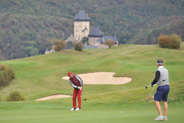 Patrik Eliáš na Golf Resortu Karlštejn