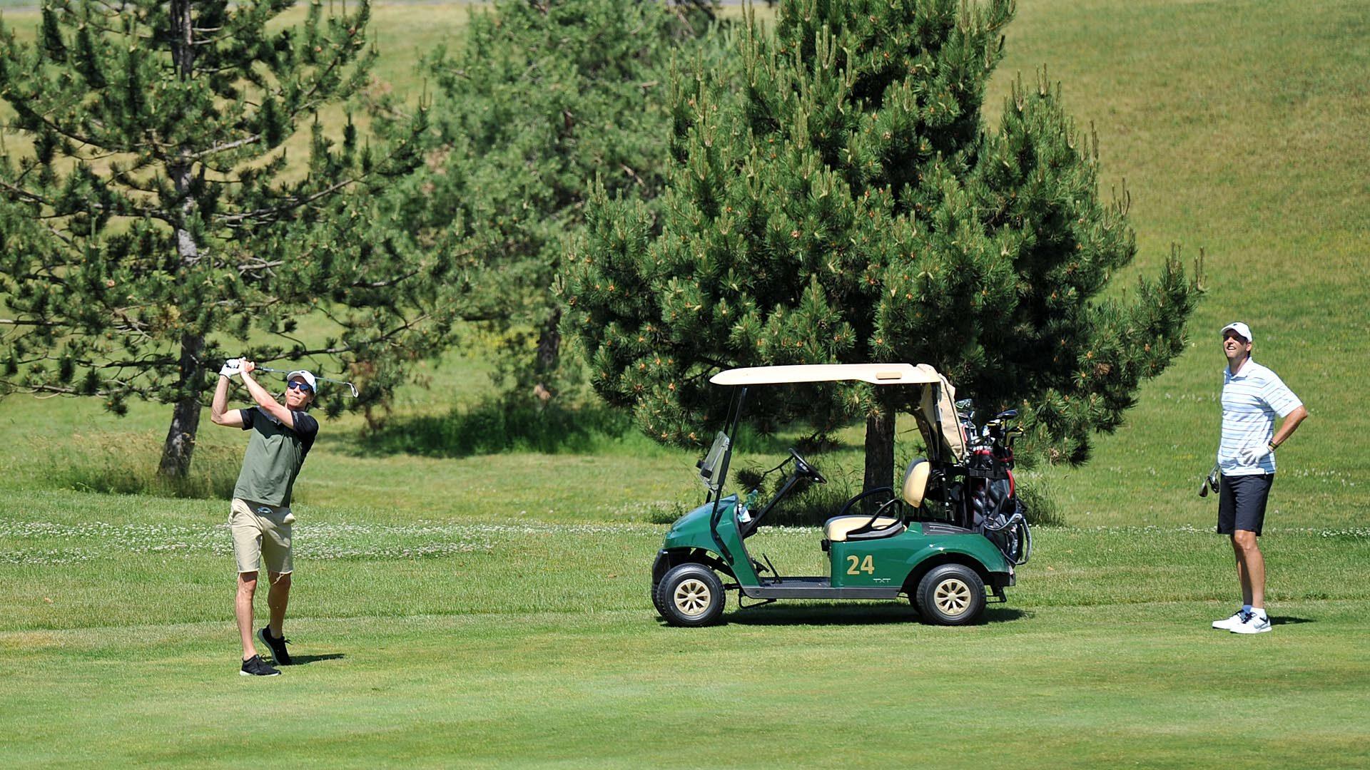 Tomáš Berdych na Golf Resortu Karlštejn