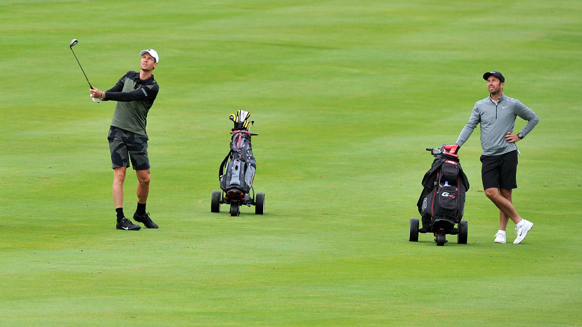 Stejný tým - jiný sport: Berdych a Štepánek na Golf Resortu Karlštejn